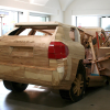 Two Porsche Cayennes Made Entirely of Wood