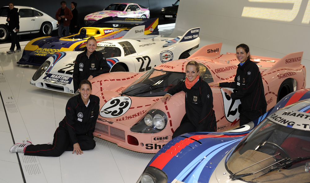 German Tennis Stars Visit The Porsche Museum