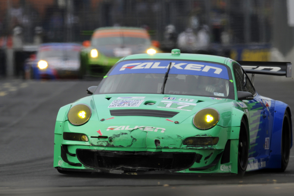 Team Falken Tire Porsche 911 GT3 RSR Grabs ALMS Baltimore GT Win