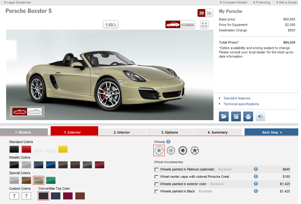 New Boxster Configurator Is Live!