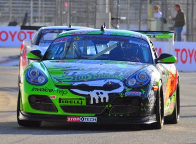 Team Hot Wheels™ and Jack Baldwin Win Long Beach Pirelli World Challenge in First Major North American Victory for Porsche Cayman S