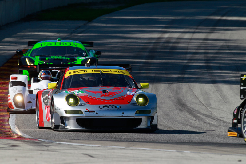 Lizard Porsche Leads Most GT Laps at ALMS Road America, But Settle for Second