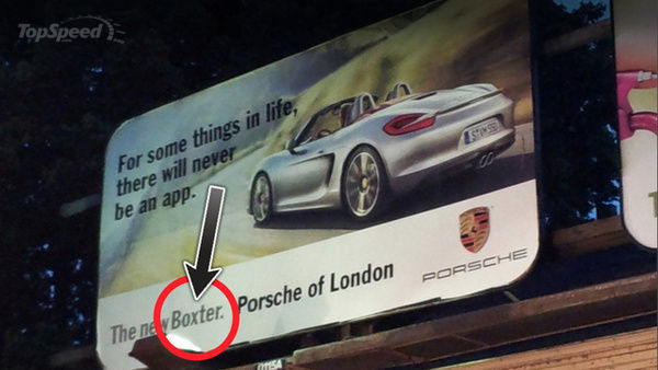 Oops. Ad Blunder Spells BOXSTER Incorrectly