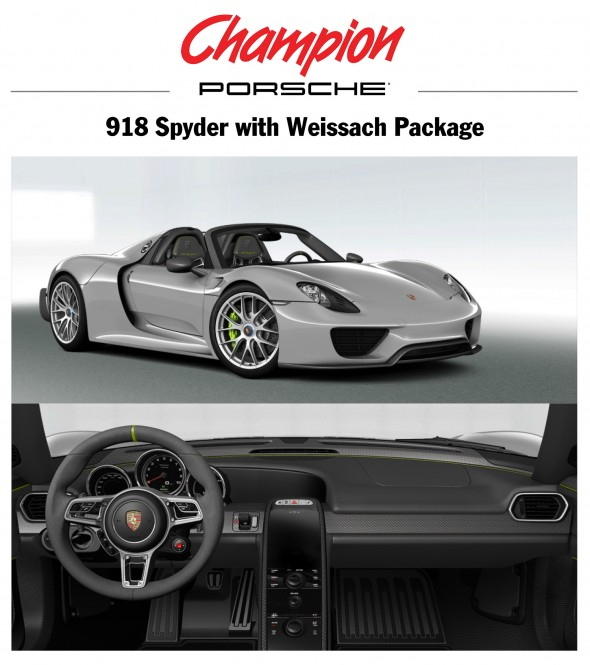918 spyder with weissach package cracks million dollar mark 9 magazine. Black Bedroom Furniture Sets. Home Design Ideas